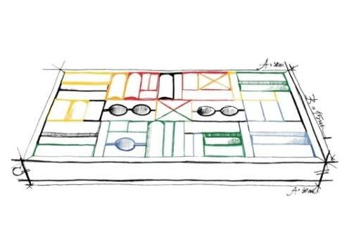 Rainbow blocks in tray - 54 pcs-1