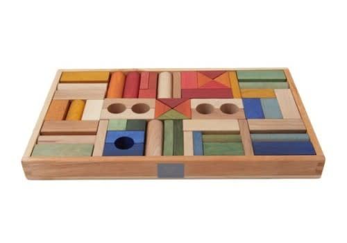 Rainbow blocks in tray - 54 pcs-2