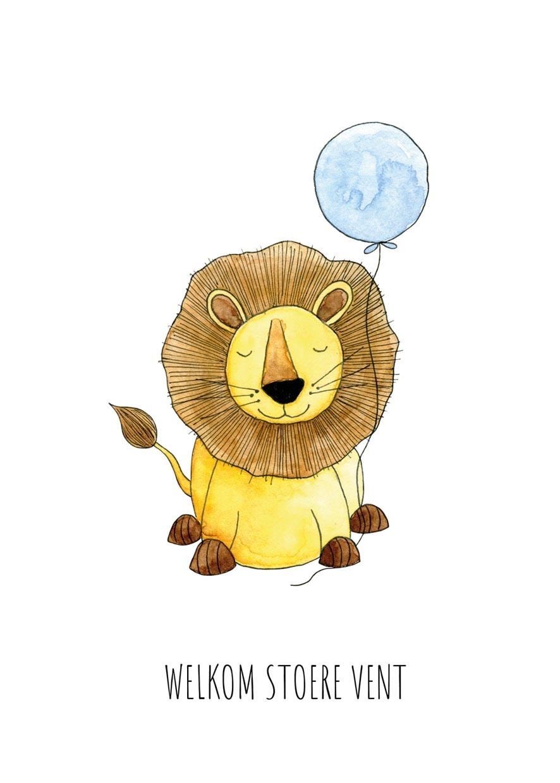 "card lion ""welkom stoere vent""-2"