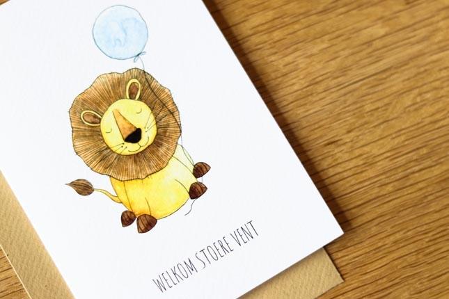 "card lion ""welkom stoere vent""-4"