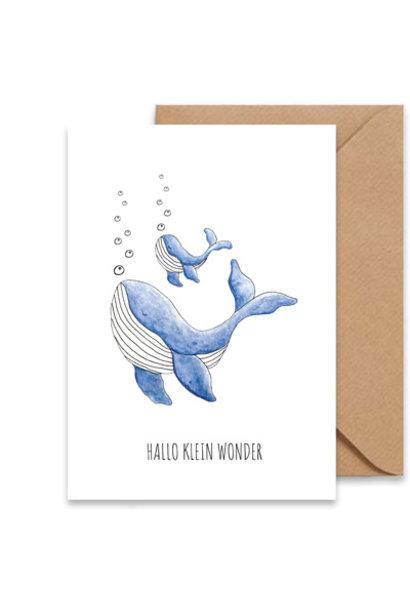 "kaart walvis ""hallo klein wonder"""