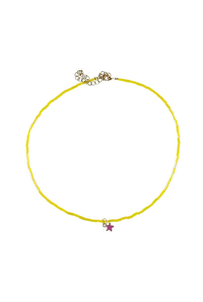 necklace | yellow beads w/star