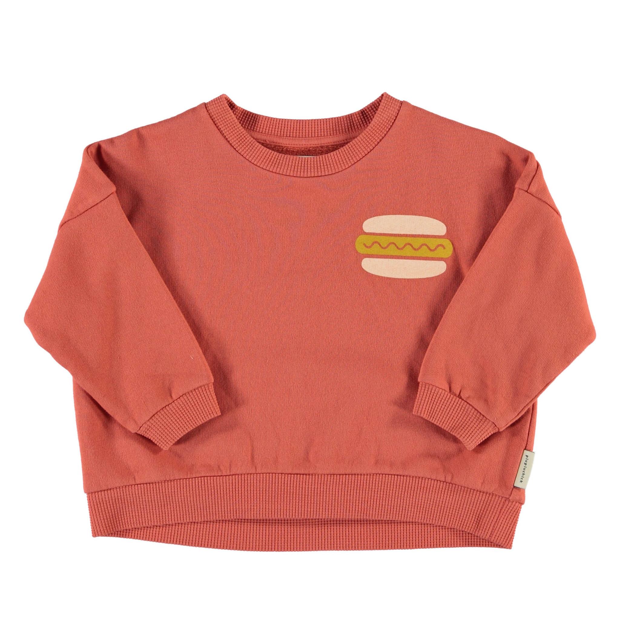 Unisex sweatshirt | brick w/ hot dog print-1