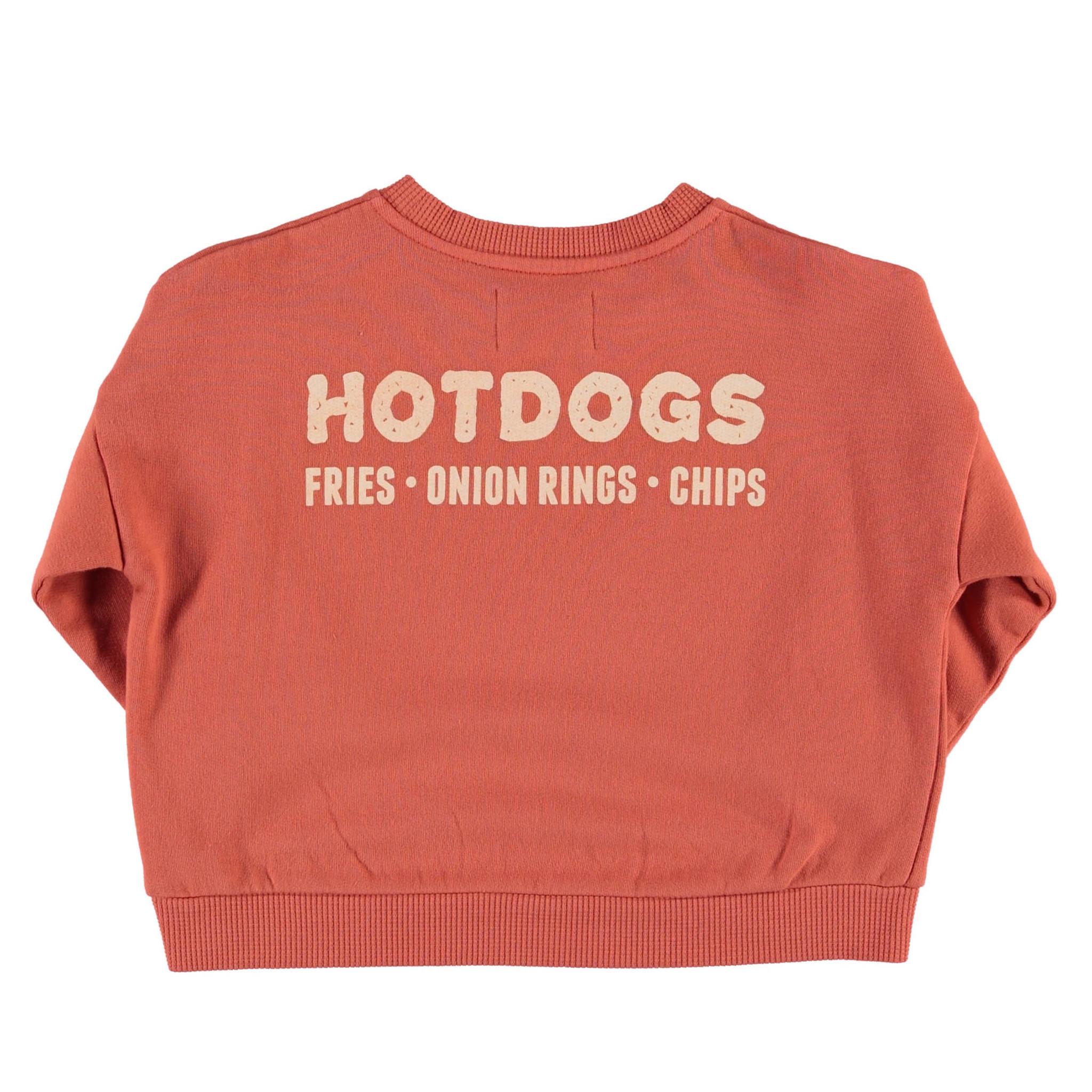 Unisex sweatshirt | brick w/ hot dog print-2