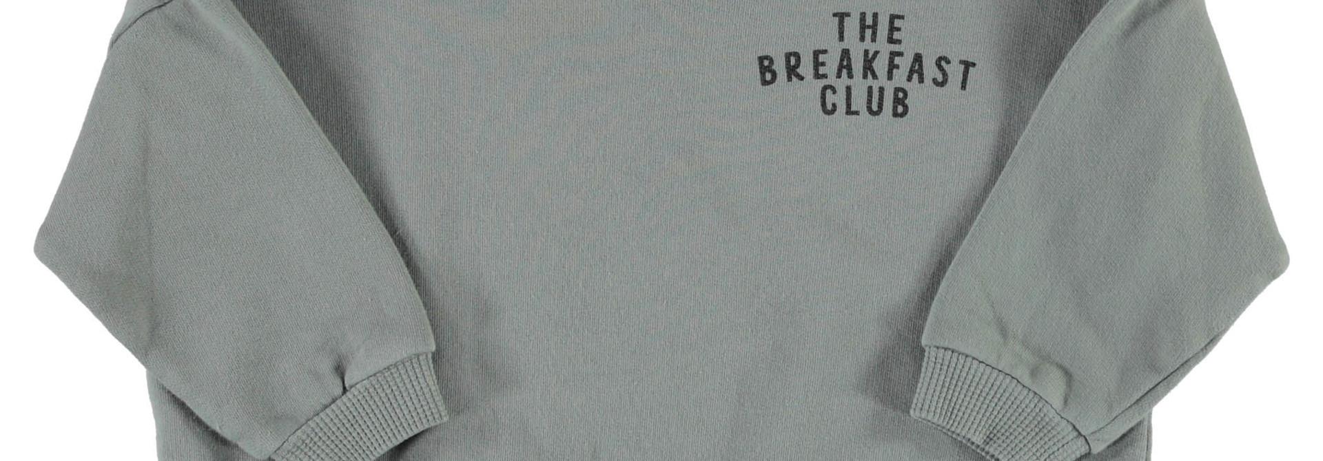 unisex sweatshirt   grey w/ cereal box print