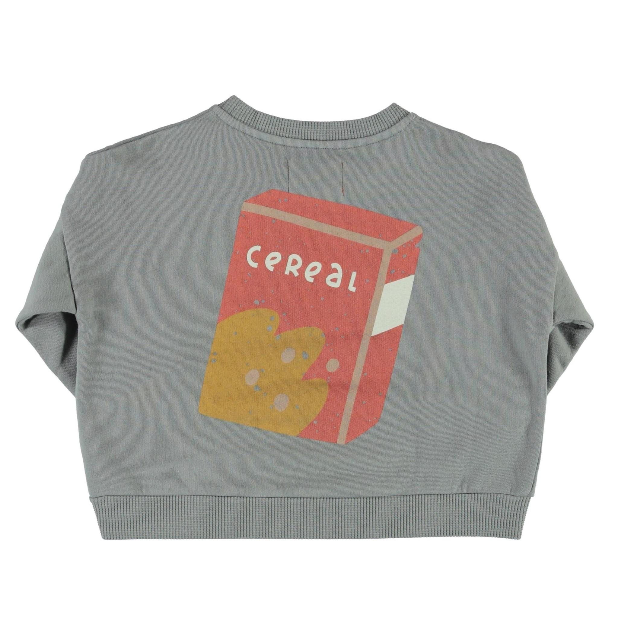 unisex sweatshirt   grey w/ cereal box print-2