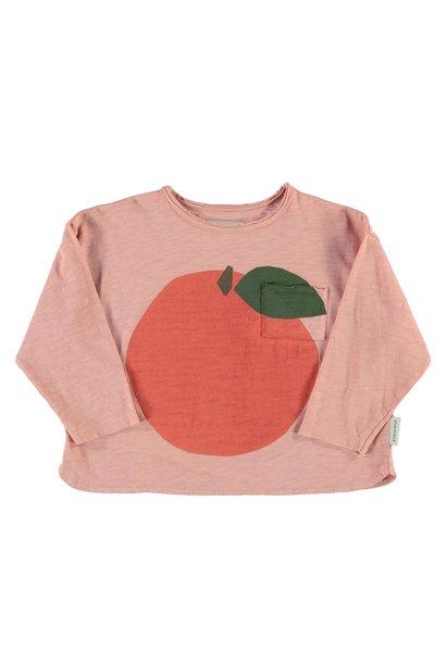 Longsleeve | light pink w/ peach print