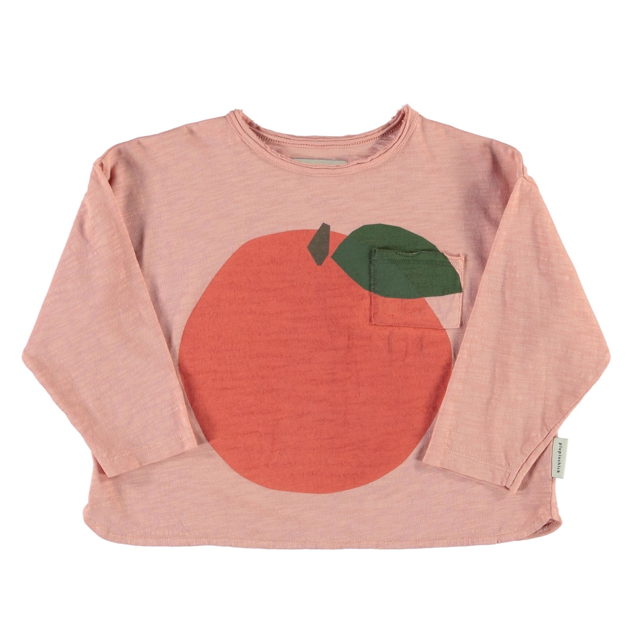 Longsleeve | light pink w/ peach print-1