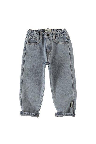 unisex denim trousers | washed light blue denim