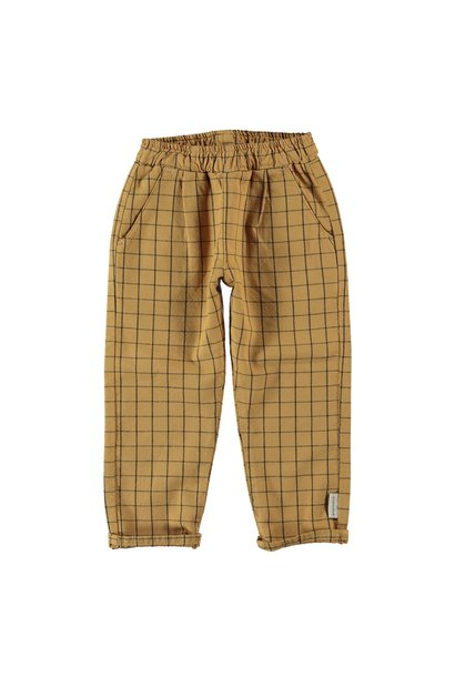 unisex trousers | camel checkered
