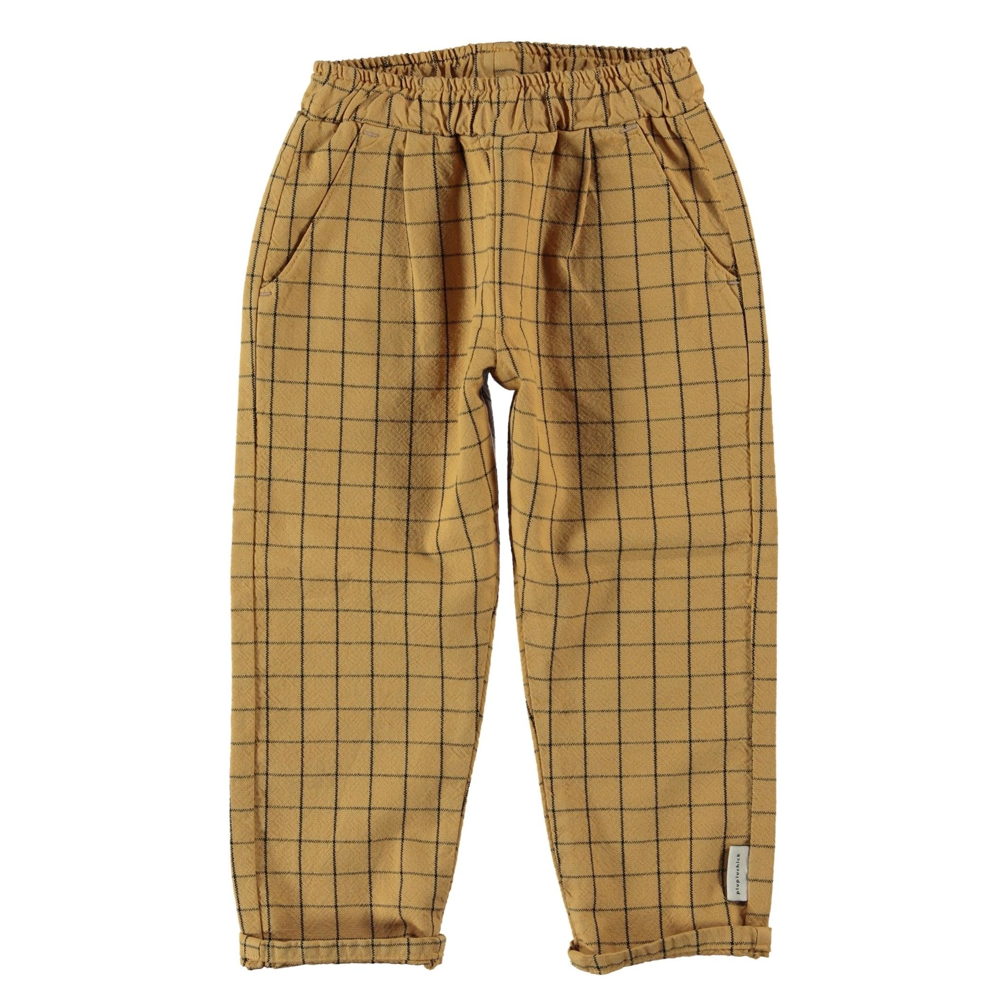 unisex trousers | camel checkered-1