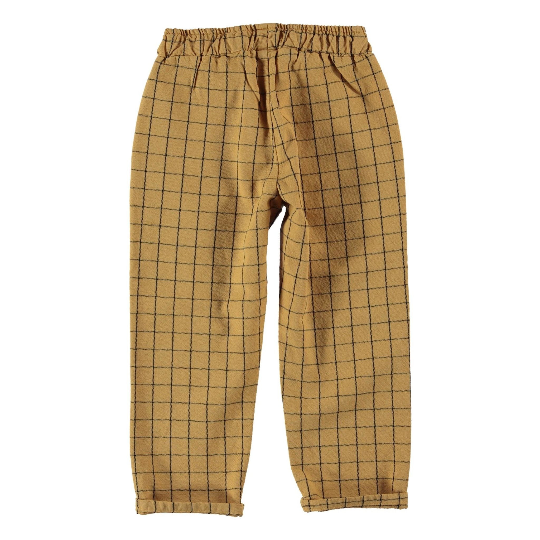 unisex trousers | camel checkered-2