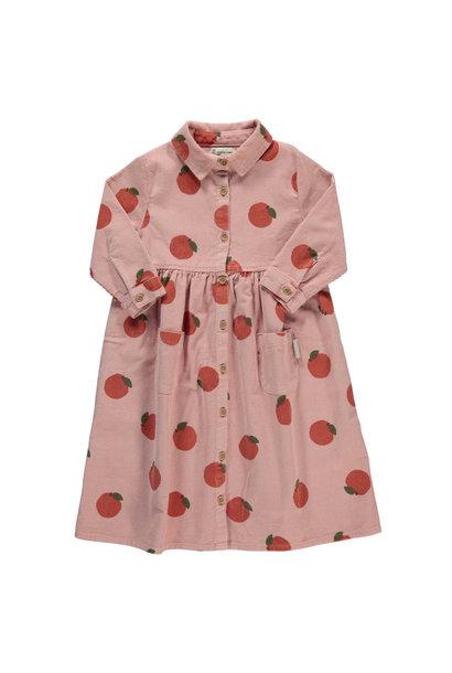 long shirt dress | light pink w/ peaches allover