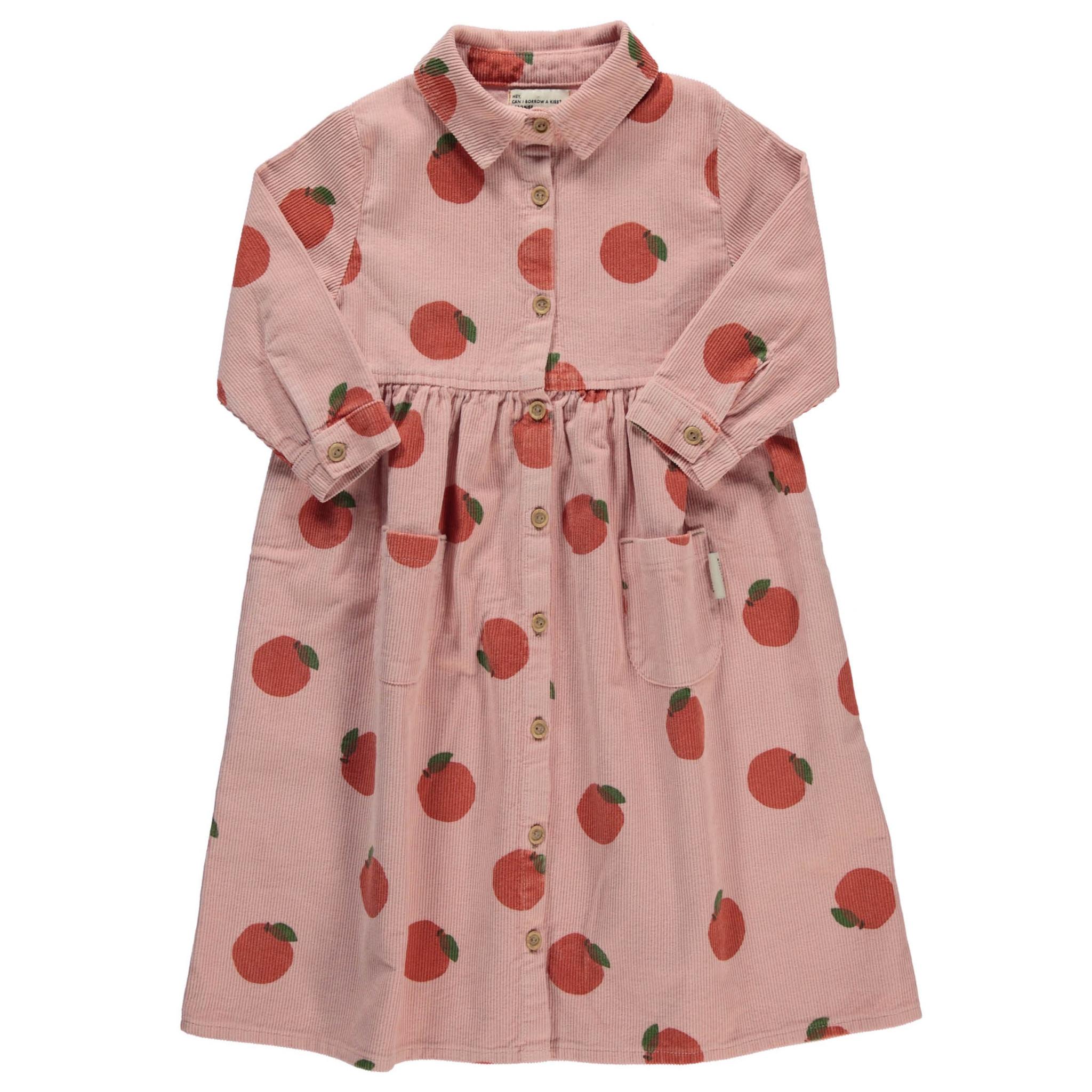 long shirt dress | light pink w/ peaches allover-1
