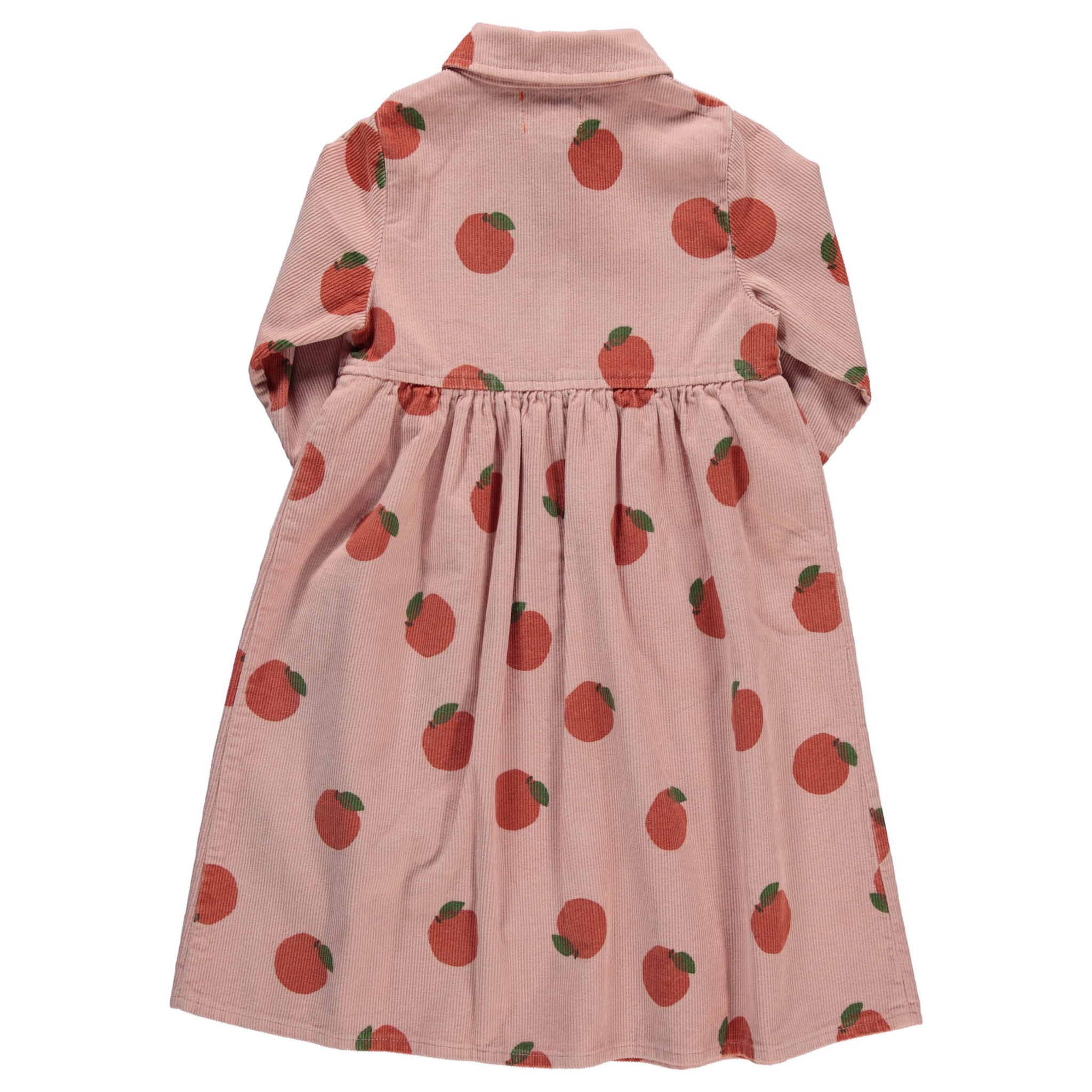 long shirt dress | light pink w/ peaches allover-2