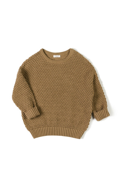 tur knit sweater - toffee