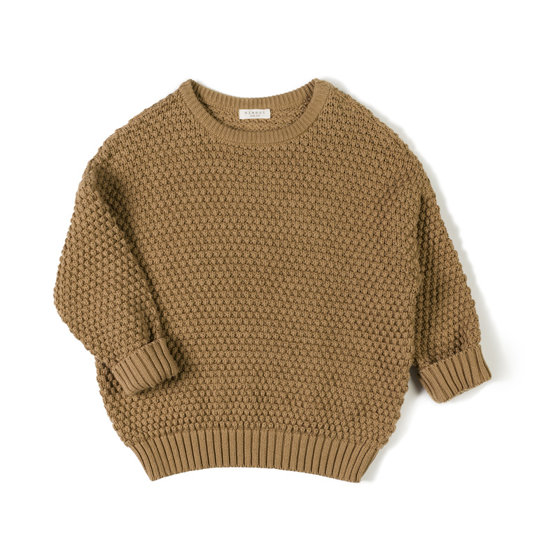 tur knit sweater - toffee-1