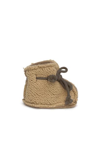 teddy booties - camel