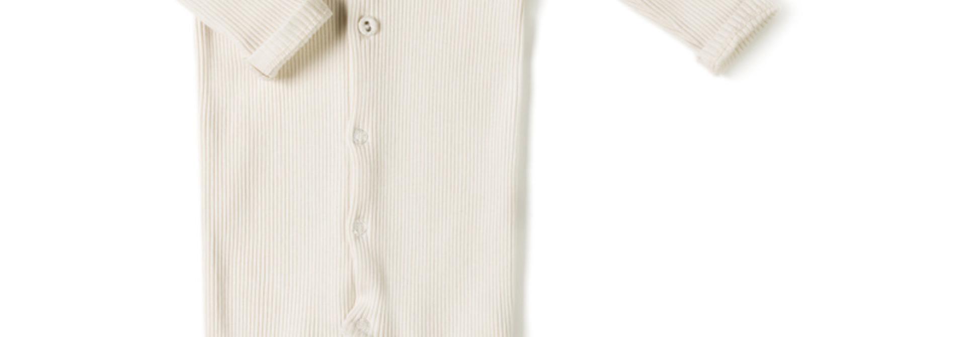 rib onesie - cream
