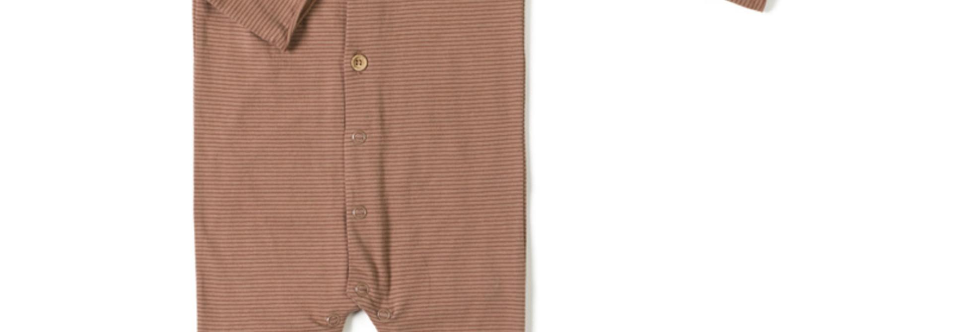 butt onesie - jam stripe