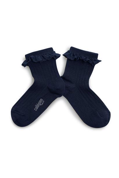 Broderie socks 'Pauline' Nuit Etoilée