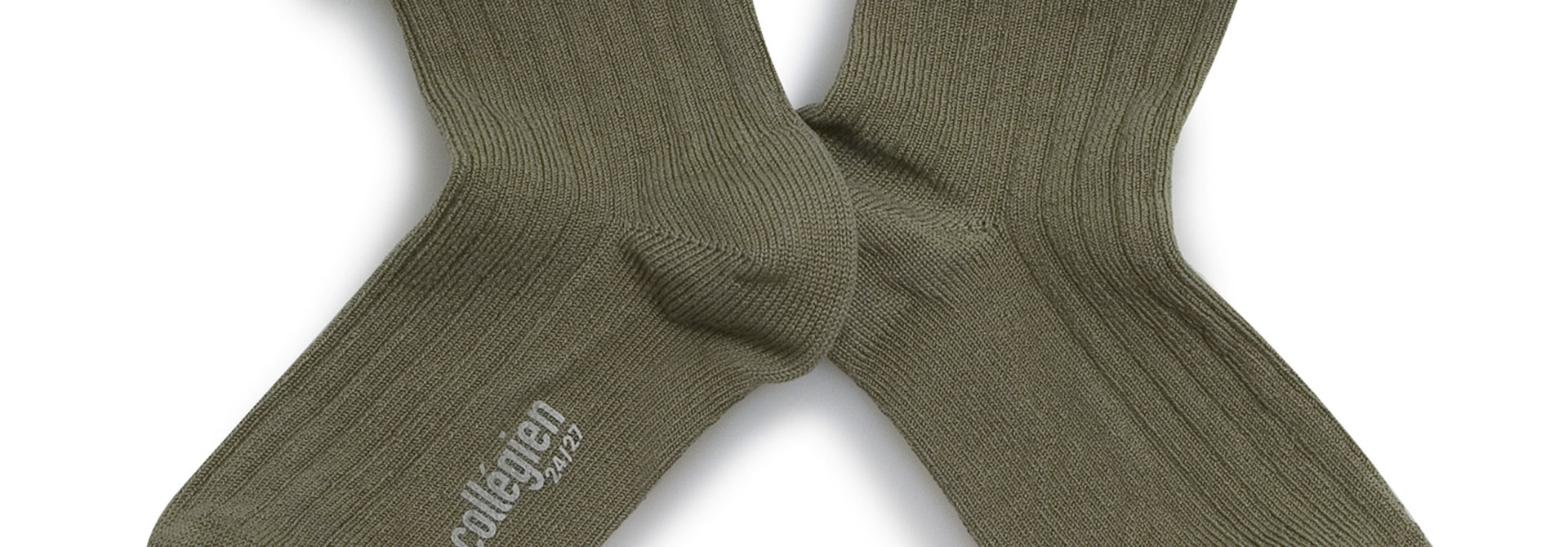 Broderie socks 'Pauline' Sauge