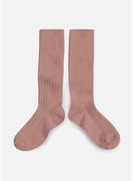 Knee Socks 'La Haute' Bois de Rose-1