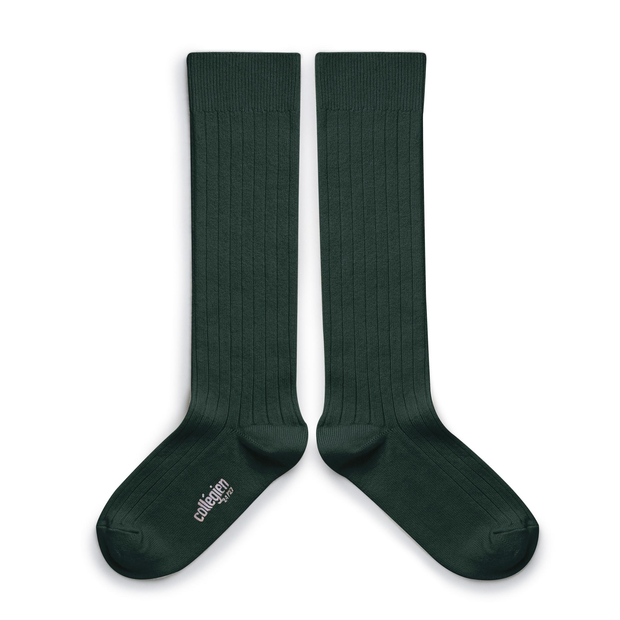 Knee Socks 'La Haute' Vert Forêt-1