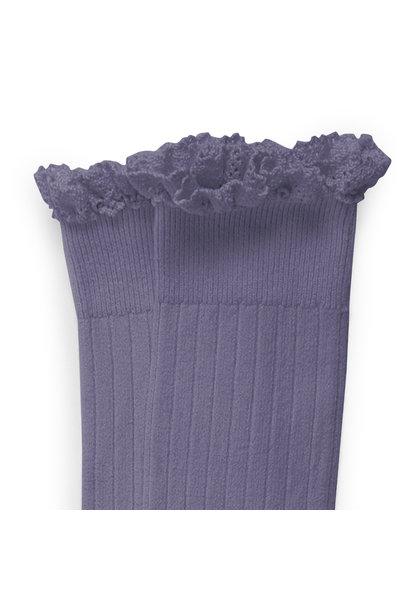 Knee Socks Lace 'Joséphine' Fleur de Lavande