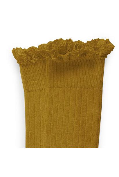 Knee Socks Lace 'Joséphine' Moutarde De Dijon