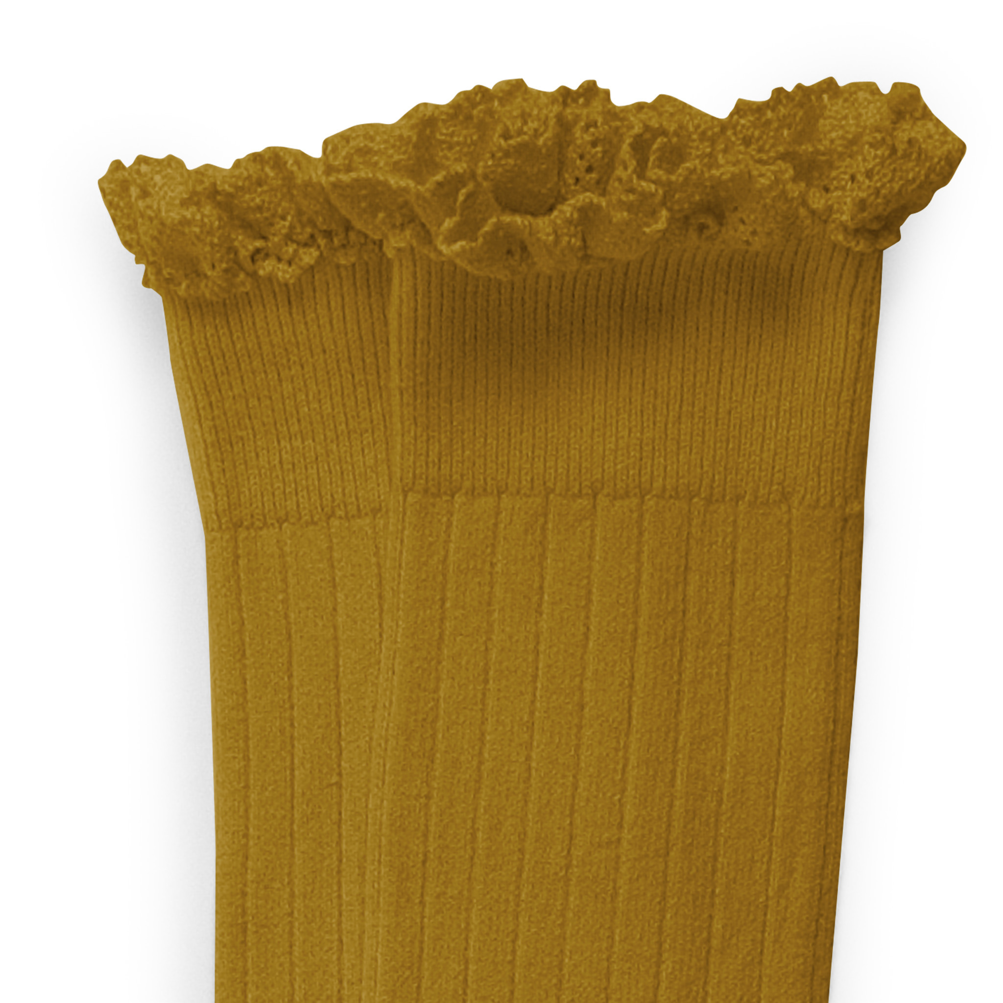 Knee Socks Lace 'Joséphine' Moutarde De Dijon-1