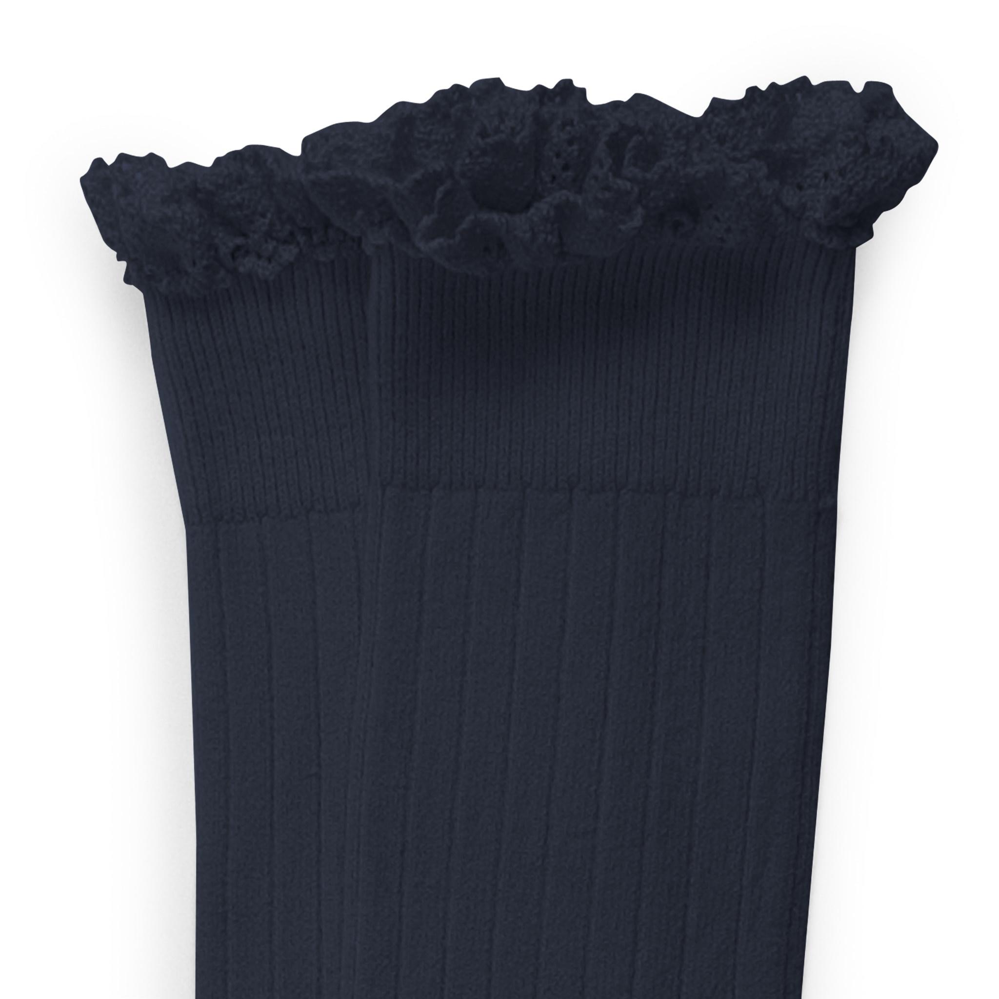 Knee Socks Lace 'Joséphine' Nuit Etoilée-1