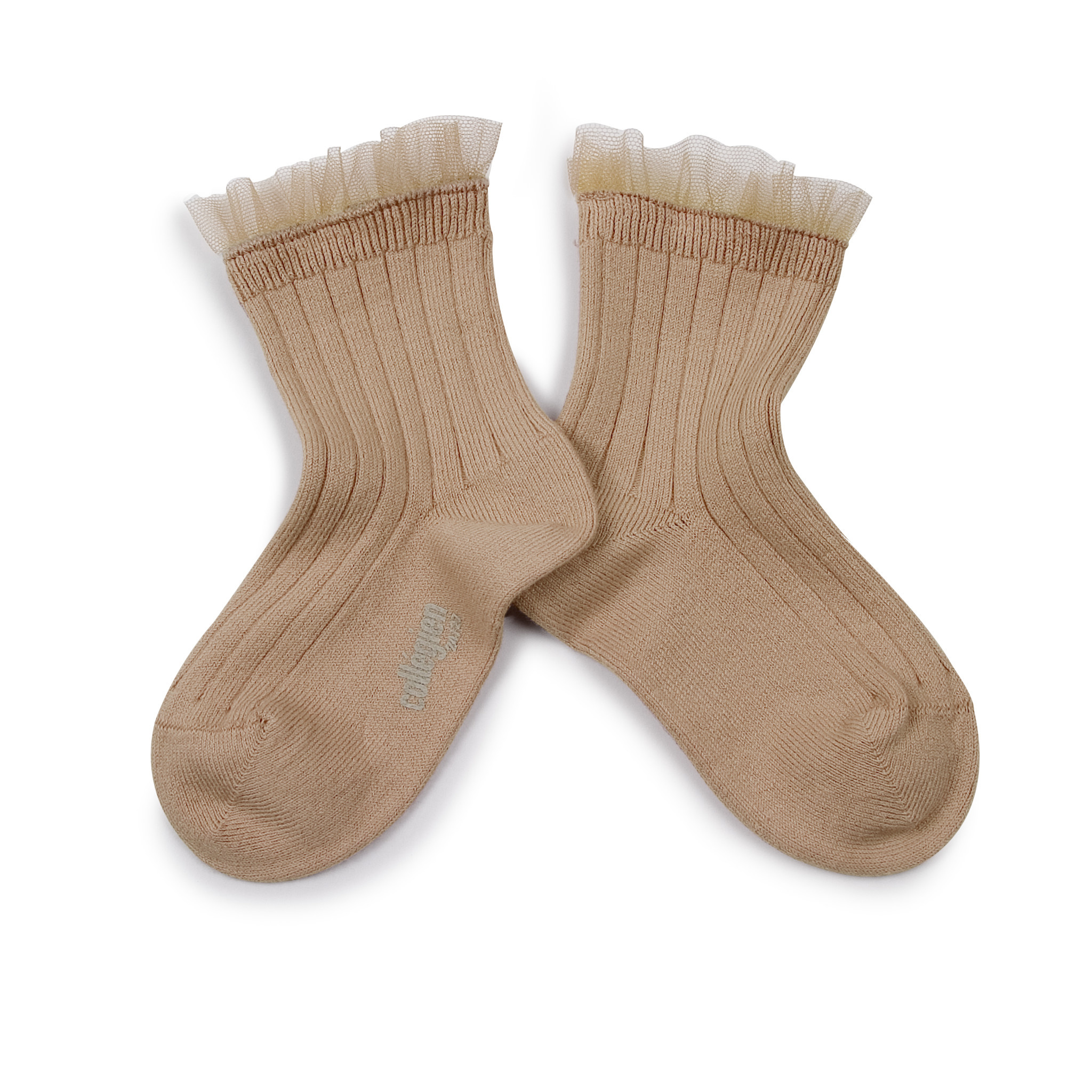 Lace Frill socks 'Margaux' Petite Taupe-1