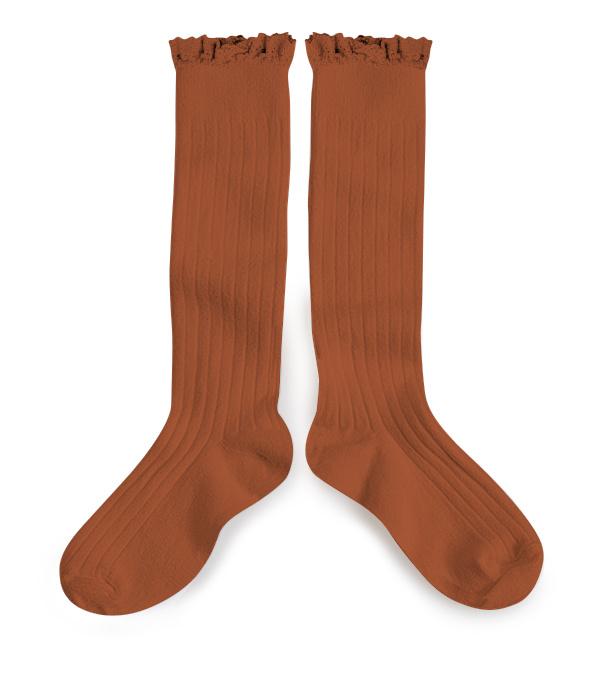 Knee Socks Lace 'Joséphine' Pain d'Epice-2