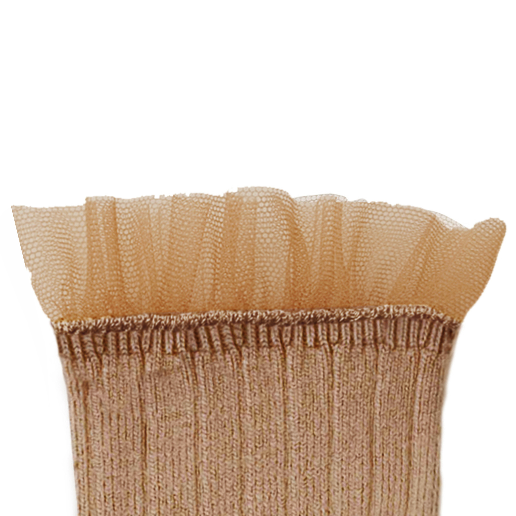 Lace Frill socks 'Margaux' Petite Taupe-2