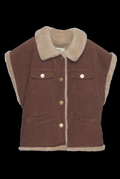 Reversible Vest - cinnamon cord