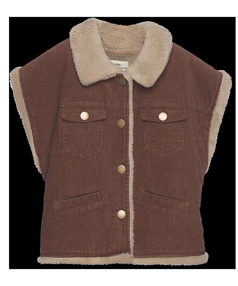 Reversible Vest - cinnamon cord-1