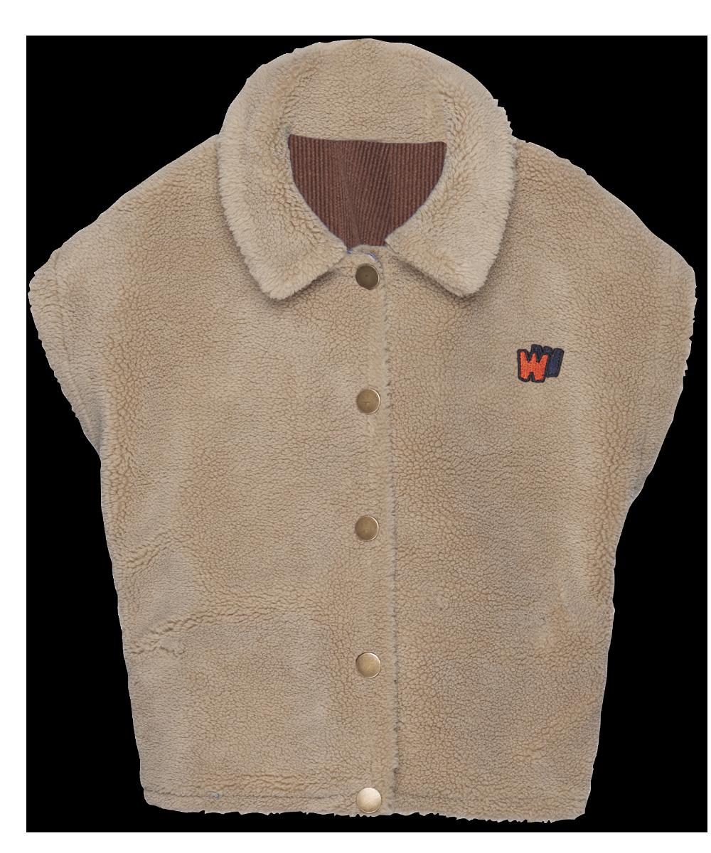 Reversible Vest - cinnamon cord-2