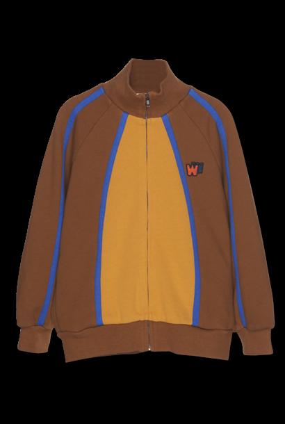Color Block Zip Up - caramel