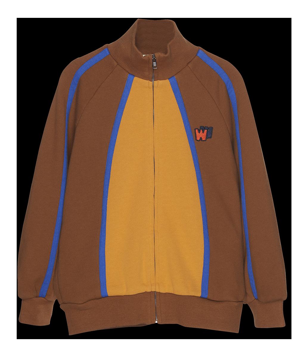 Color Block Zip Up - caramel-1