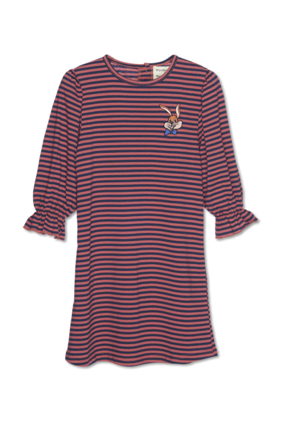 Thea Dress - brick stripe