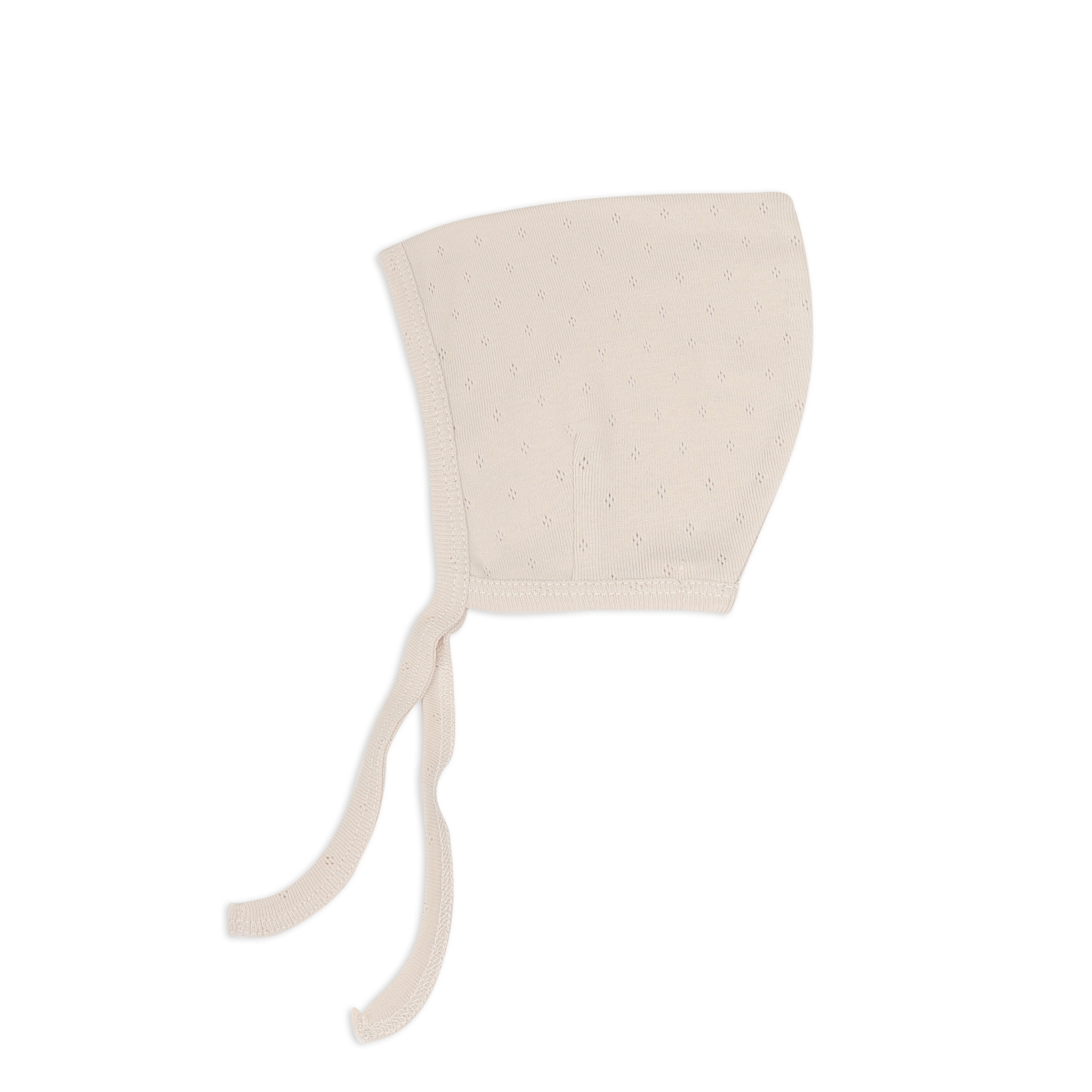 Pointed bonnet pointelle - Oatmeal-1