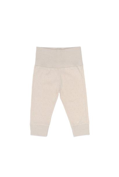 Newborn leggings pointelle - Oatmeal