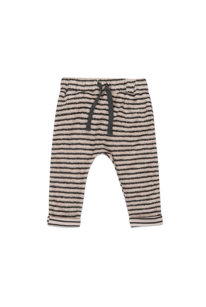 Baby pants loopy stripes - Graphite