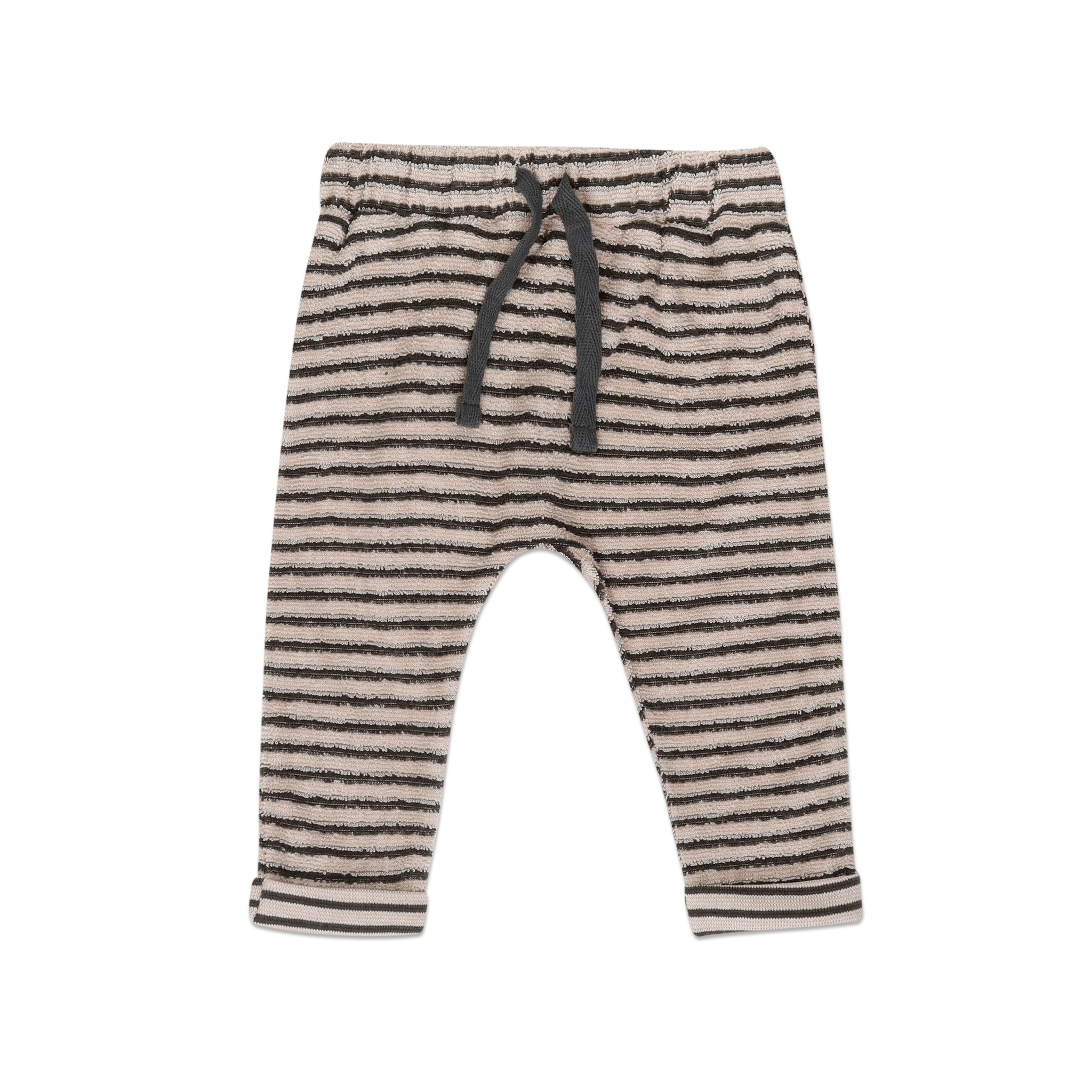 Baby pants loopy stripes - Graphite-1