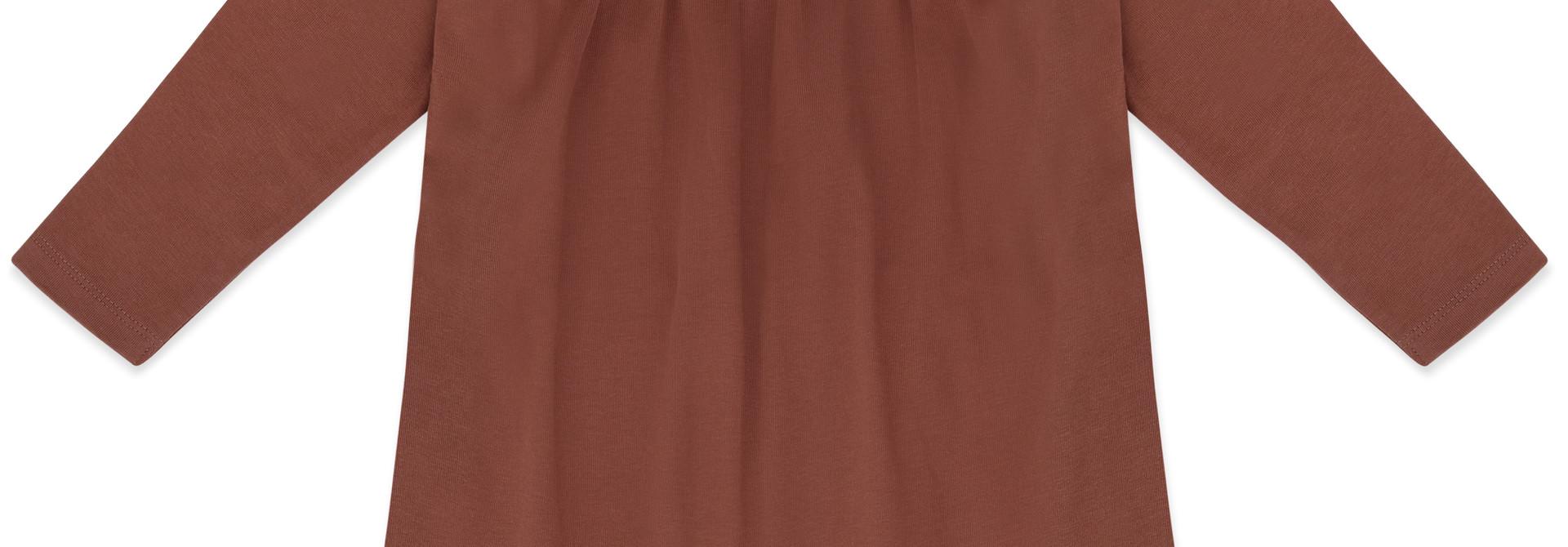 Two-way dress l/s - chocolate mauve