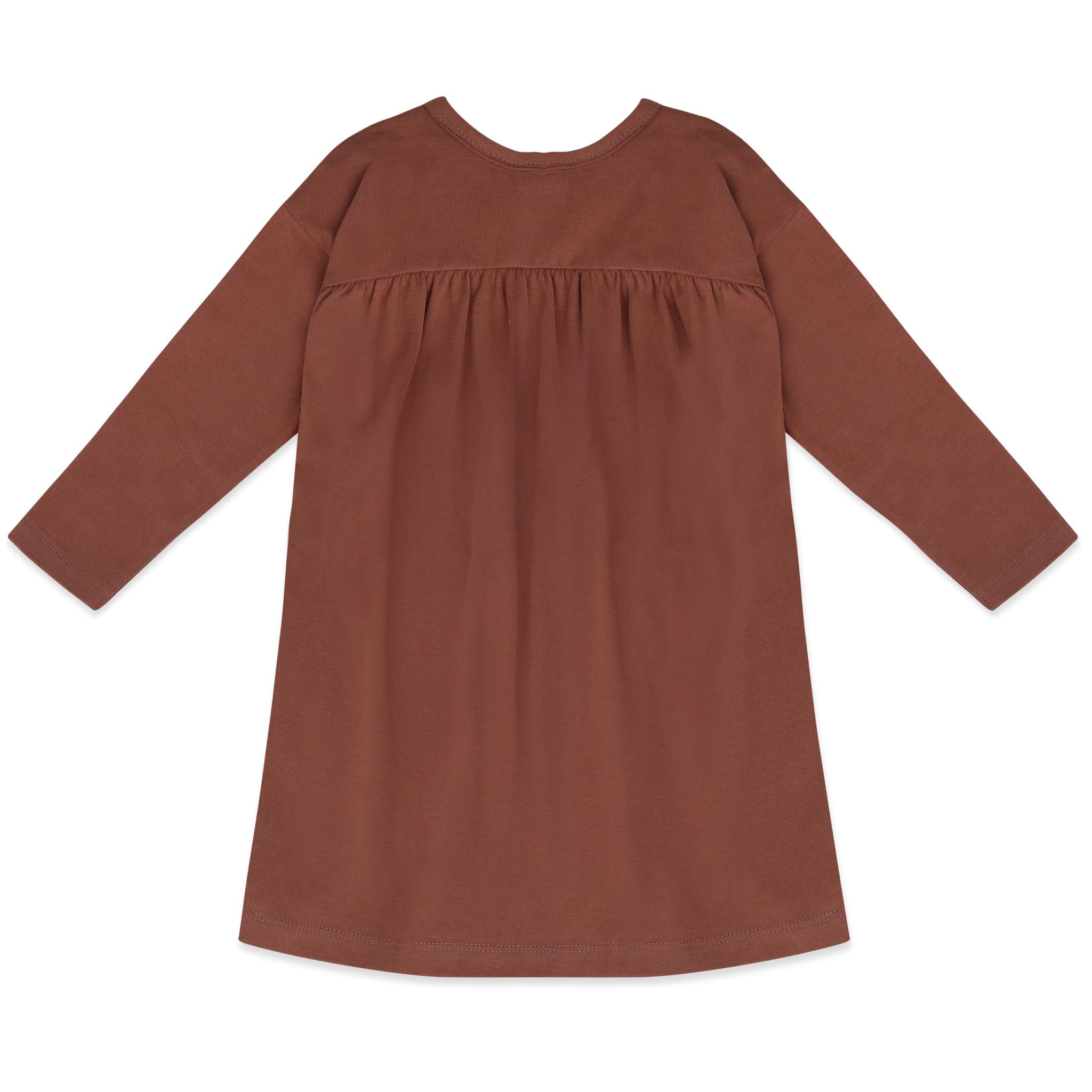 Two-way dress l/s - chocolate mauve-1