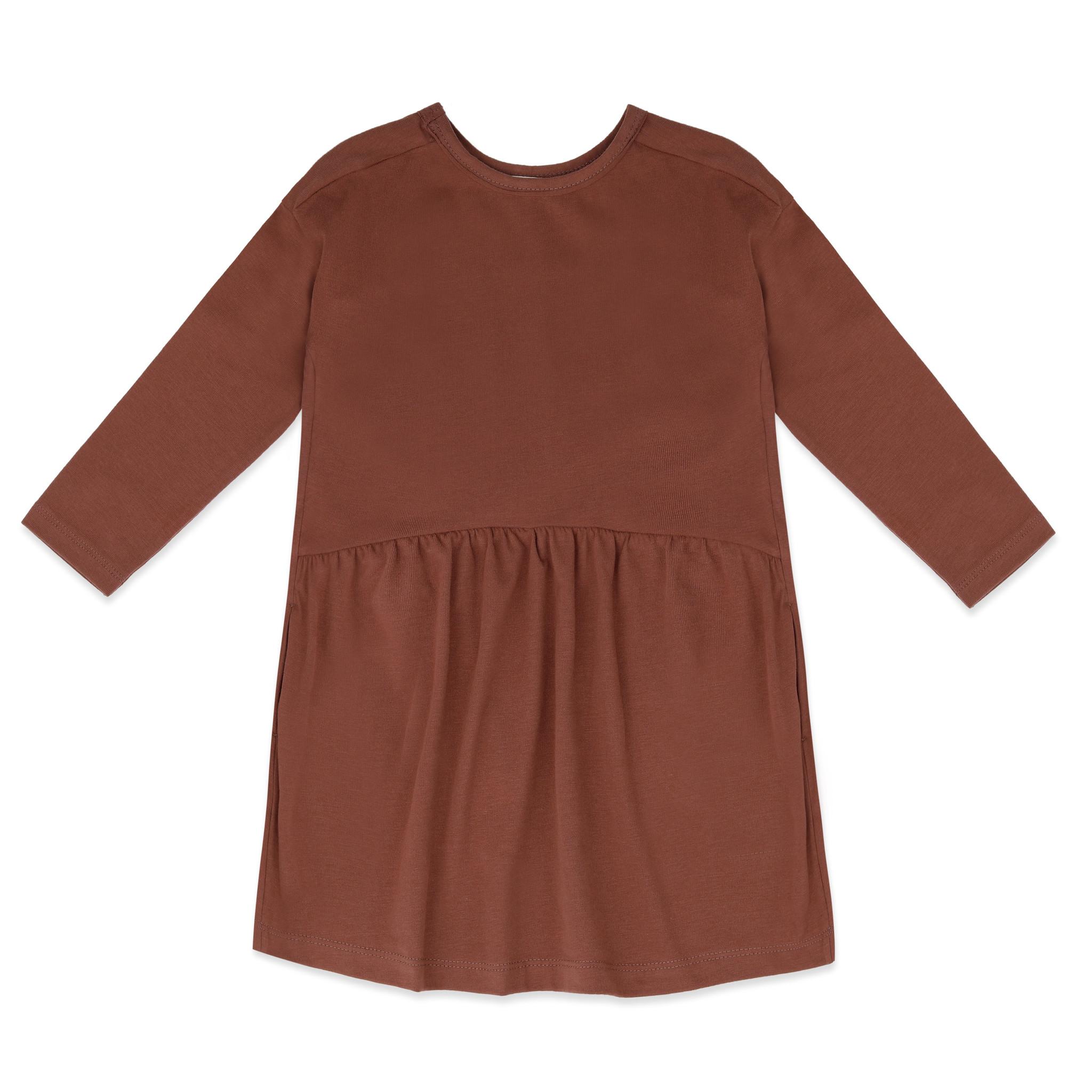 Two-way dress l/s - chocolate mauve-2