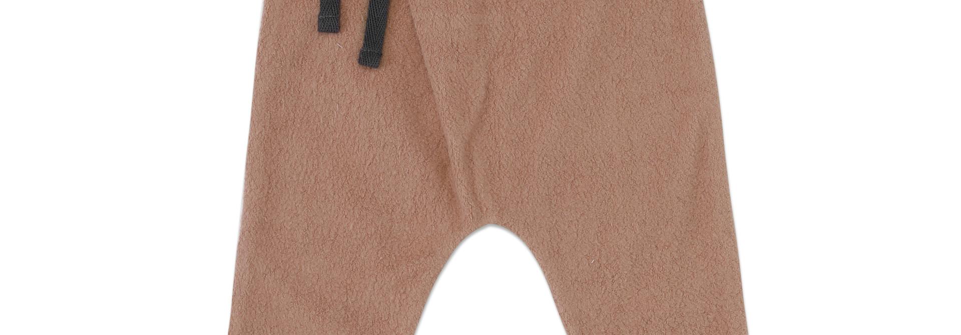 Teddy baby harem pants - creamy mocha