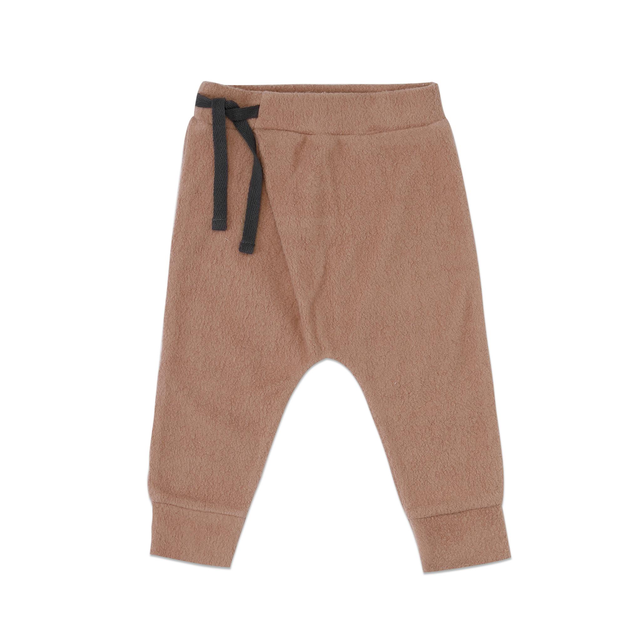 Teddy baby harem pants - creamy mocha-1